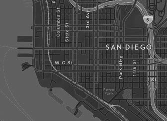 Dark gray Streets basemap
