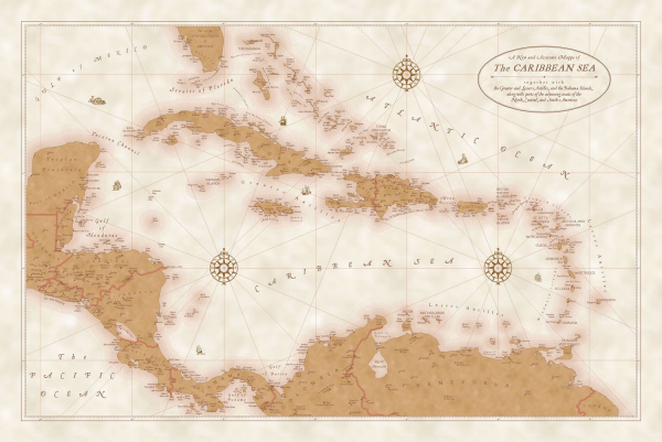 ArcGIS Symbols - Caribbean Sea map