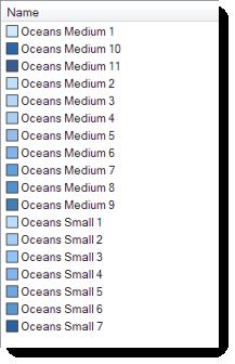 Ocean Basemap color style - Colors