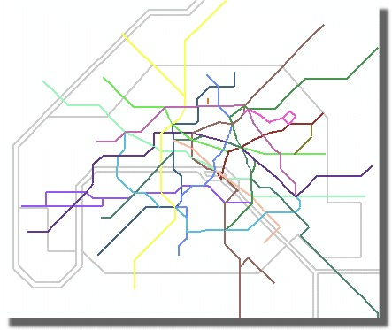 Example of a transit map