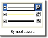 Example of a multi-layer line symbol