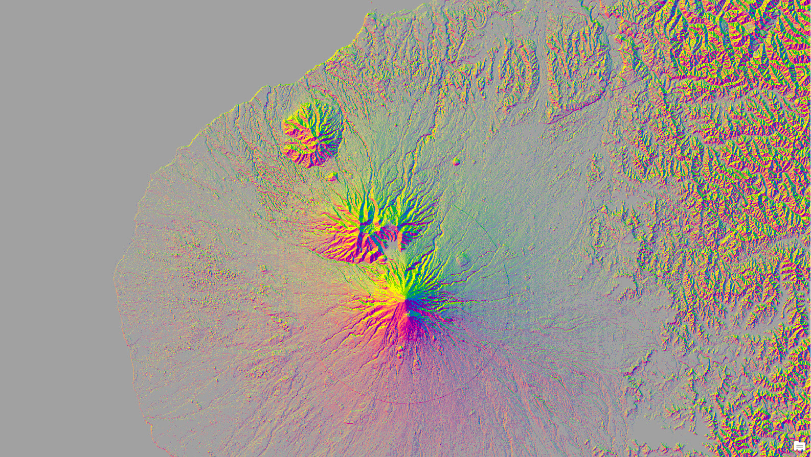 Taranaki aspect-slope map