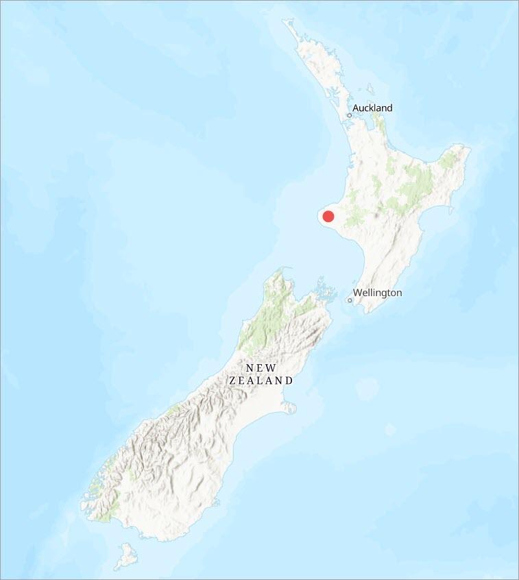 Taranaki locator map