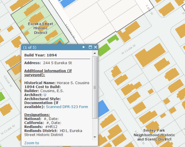 Historic Building Conservation and Preservation Web Map Example