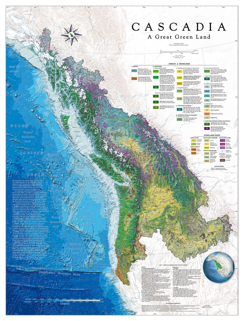 Cascadia graces the cover of the 2015 esri map book cascadia map thumbnail gumiabroncs Image collections