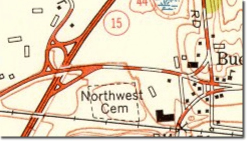 Example of masking on a USGS 1:24,000 scale map