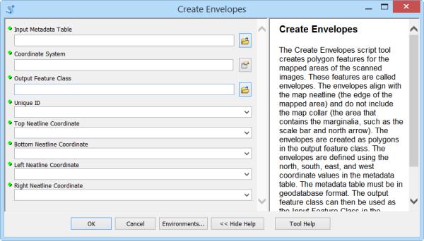 Create Envelopes tool