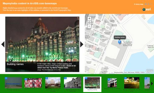 MapMyIndia StoryMap