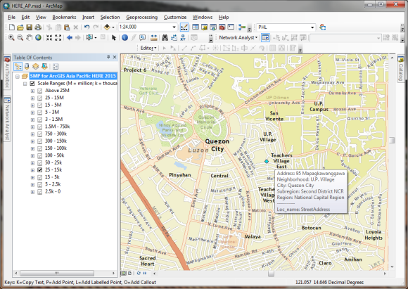 Reverse geocoding for Quezon City, Philippines