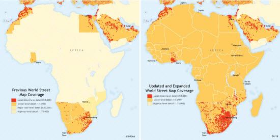Africa map coverage comparison