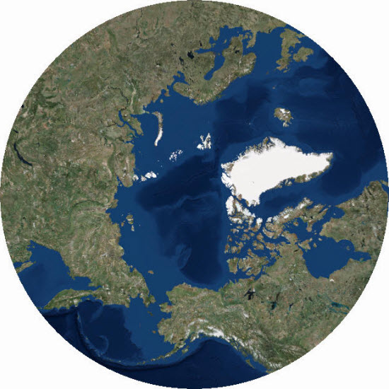 Arctic Polar Imagery map