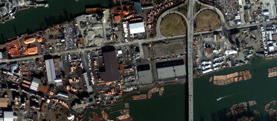 1m IKONOS imagery for Mitchell Island, Vancouver, British Columbia, Canada