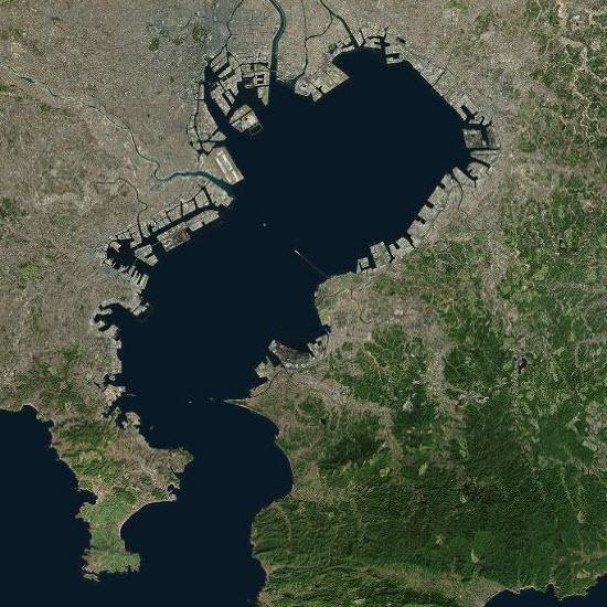 Tokyo Bay, Japan, TerraColor 15m