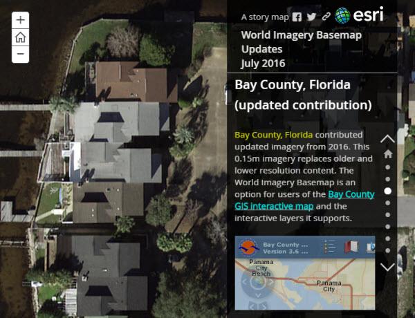 July 2016 World Imagery Basemap Updates story map