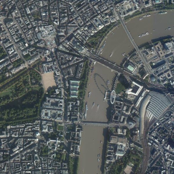 DigitalGlobe imagery for London, England