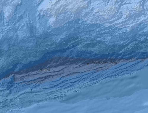 New, greatly-detailed bathymetry for the Mariana Trench, one such area updated with a contribution made by The University of New Hampshire's Center for Coastal and Marine Mapping/Joint Hydrographic Center