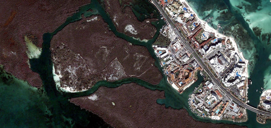 1m IKONOS imagery for Cancun, Mexico