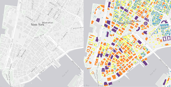 NYC Mashup using the canvas map