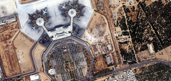 1m IKONOS imagery for Jinnah International Airport, Karachi, Pakistan