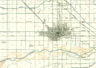 1912 Map of Phoenix, AZ