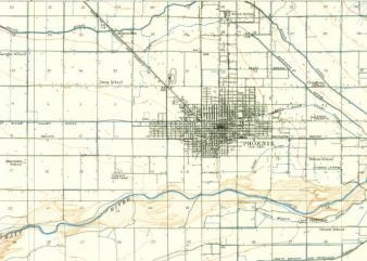 1912 Map of Phoenix, AZ