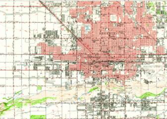 1952 Map of Phoenix, AZ