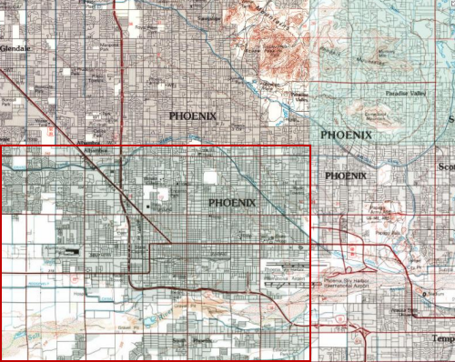 1952 Map of Phoenix, AZ