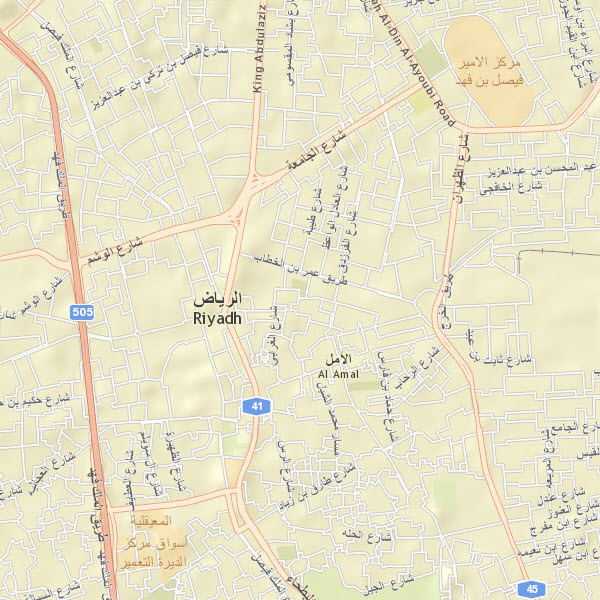 Streets in Riyadh, Saudi Arabia, at 1:36k