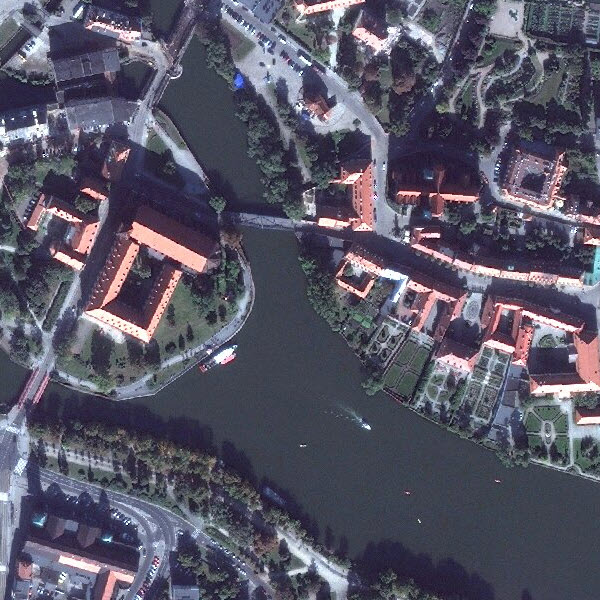 DigitalGlobe imagery for Wroclaw, Poland