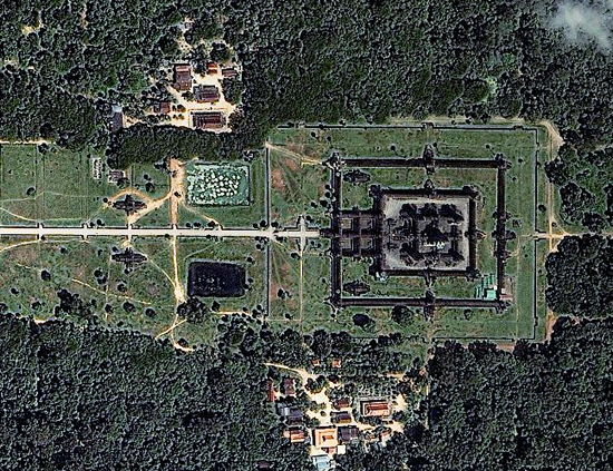 1m IKONOS imagery for Angkor Wat, Cambodia