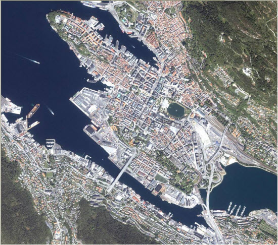 1m IKONOS imagery for Bergen, Norway
