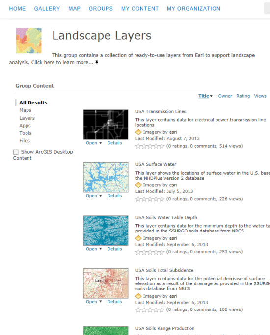 Landscape Layers Group