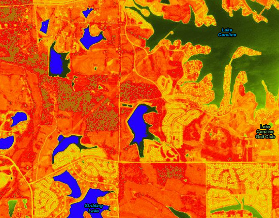 NDVI display of NAIP 2012 Imagery