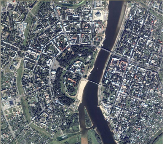 1m IKONOS imagery for Novgorod, Russia