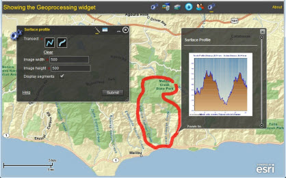 Geoprocessing widget