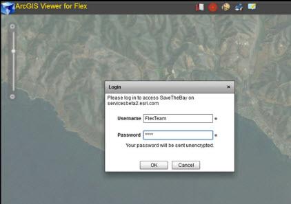 Login ke layanan aman menggunakan Flex Viewer
