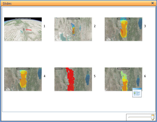 Presentation created in ArcGIS Explorer to show different inputs/outputs of the Cache valley MODFLOW model.
