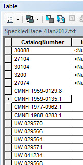Data in the CatalogNumber field are in different formats and need to be standardized for the pop-up.