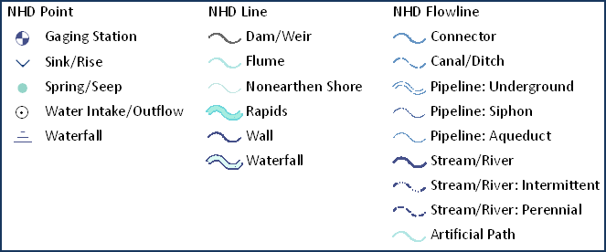 Hydro Reference Overlay Large Scales Map Template: Symbology Sample