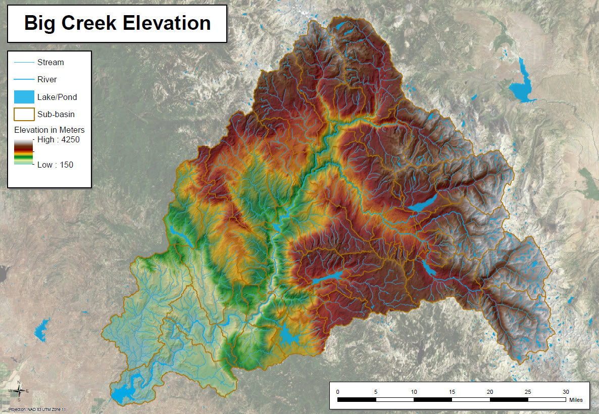 Big Creek Elevation