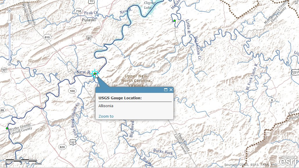Hydro Basemap mashup with USGS Gauges