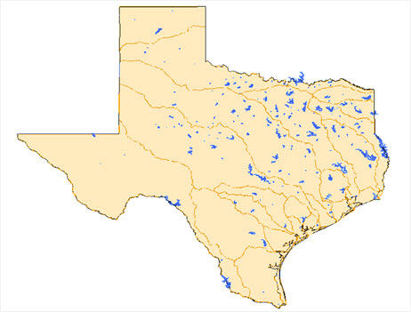 Major reservoirs in the State of Texas.