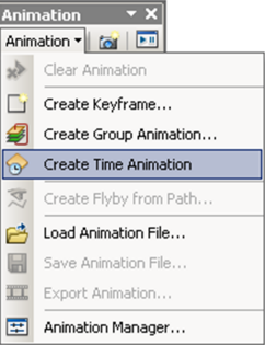 Creating a new Time Animation track.