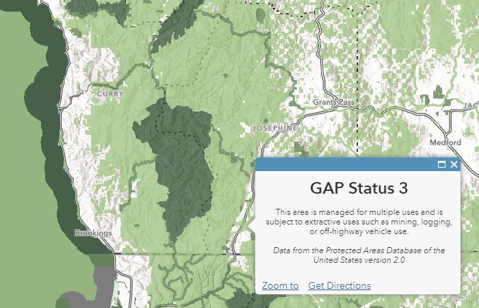 USA Protected Areas - GAP Status 1-4